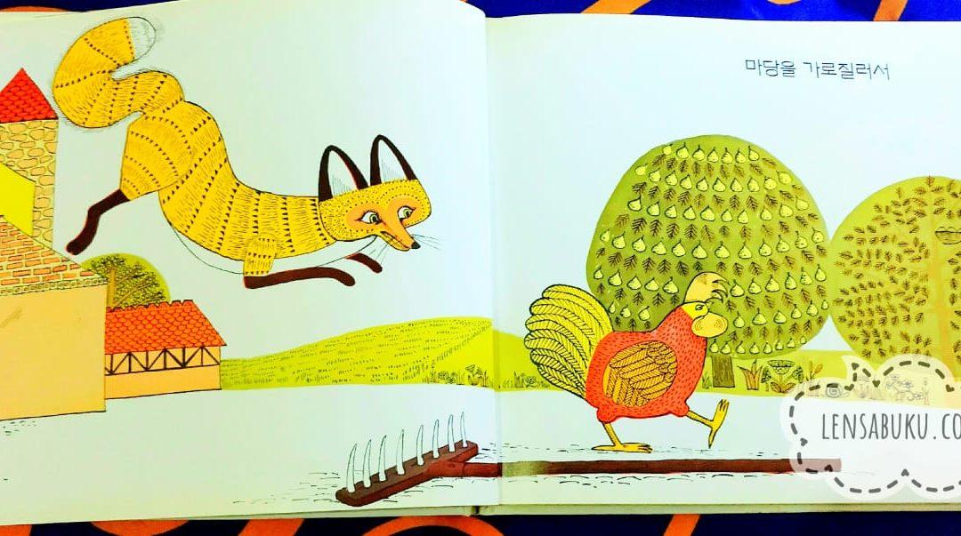 Rosie's Walk  oleh Patricia Hutchins – Menikmati Humor dari Buku Tanpa Kata Berbahasa Korea